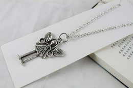 3PCS Tibetan Silver Fairy Pendant Necklace #20080