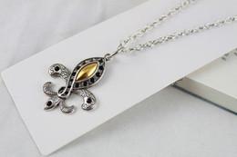 3PCS OF Tibetan Silver Golden Fleur de lis Necklaces 55CM #20085
