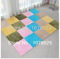 Wholesale Shaggy floor rug carpet mat indoor plush carpet velvet puzzle mats doormat long hair patchwork carpet pad