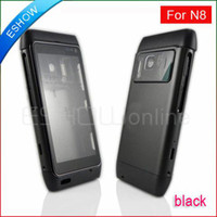 Wholesale Full housings faceplates Cover With Keypad for Nokia N8 Black A0621A C D F