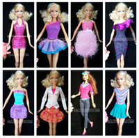 Wholesale New Handmade Party Doll s Dress Clothes Shoes Gown For Barbie best baby christmas gift A20