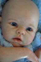 """Cheap Wholesale-SAME AS KRISTA Reborn Baby doll kit Silicone Vinyl head ,3 4 arms and legs for 20-22"""" baby dolls lifelike doll Accessories"""