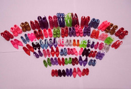 Wholesale Hot Sale Pairs set Fashion Heels Sandals Doll Shoes For Barbie Dolls Outfit Dress
