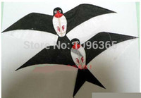 Wholesale Traditional Chinese Handmade Kite Black Pair Swallow Singe Line bamboo kite