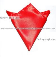 Wholesale red Pocket square hanky Hankerchief kerchief mocket noserag pocket handkerchief pure color