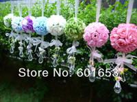 Wholesale wedding flower ball Artificial flower rose ball silk flower Real Touch rose ball Home decorations