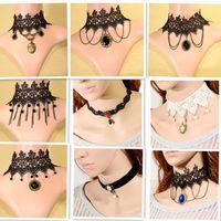 big bird party - steam punk accessories big chokers bird sapphire necklace bijou trendy jewelry victorian lace necklace jewelry