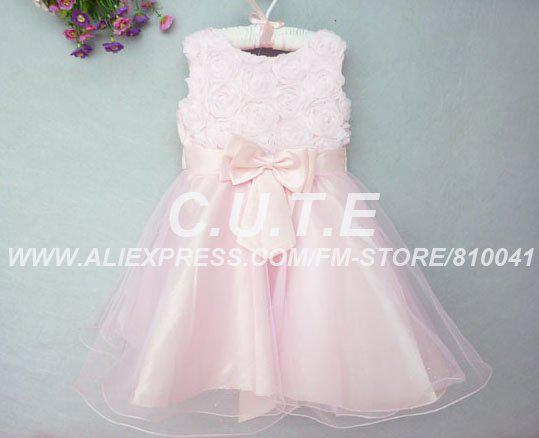 2017 Wholesale Girls Party Dress Infant Prom Dress Toddler Flower ...