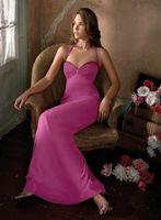 A-line Halter Sweetheart Neckline Ankle-length Chiffon Bridesmaid Dress Evening Dresws