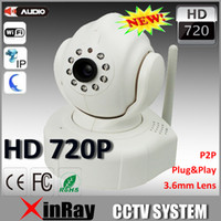 Vente en gros - 720p HD P2P Plug- and -Play sans fil IP caméra CCTV caméra Home Security ipcamera gratuit Iphone Android App logiciel AP007
