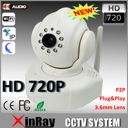 Canada Vente en gros - 720p HD P2P Plug- and -Play sans fil IP caméra CCTV caméra Home Security ipcamera gratuit Iphone Android App logiciel AP007 security camera ip software for sale Offre