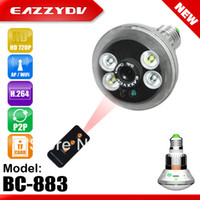 Acheter Contrôle d'accès cctv-Gros-lampe et la caméra 2 en 1 ampoule WIFI Caméra DH720P P2P Caméra IP came de CCTV de sécurité sans fil pour l'accès iPad iPhone Contrôle Android