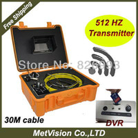Wholesale Pipe borescope inspection camera with locator HZ transmitter drain camera with m cable record to on SD memory