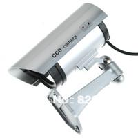 al por mayor cámaras de seguridad para barato-Al por mayor-barato y corriente Mirando Maniquí falso cámara de seguridad CCTV luces LED parpadeante de Inicio Propiedad