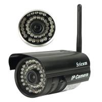 Vente en gros de marque nouvelle 2015 Sricam P2P extérieure imperméable à l'eau IP Camera Android App logiciel caméra de sécurité Surveillance livraison gratuite