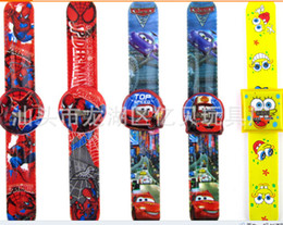 Wholesale High quality stock minnie big hero pony monster high clap kids watch slap watch best gift for party