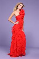 Chiffon 2011 prom - Prom Dresses New Arrival One Shoulder Sheath Flowers Evening Dresses Floor Length PBG25