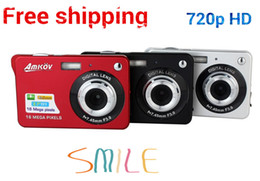 "Wholesale-HD Digital Camera 16MP 2.7"" TFT 4X Zoom Smile Capture Anti-shake Video Camcorder"
