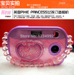 Wholesale Children Non touch Digital Camera Cartoon Study Compact Fixed Focus Camera Pink Kid Vacation Girls Best Christmas Gift