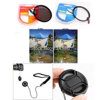 Precio de Filtro uv nex-Al por mayor-4ni1 40,5 mm Filtro UV Protector + CPL Polarizador Circular de la Lente de Filtro de set + Tapa de la Lente Keeper + Tapa de la Lente NEX-5R, NEX-5T,