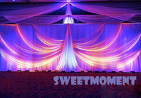 Wholesale A set Luxury Wedding Drape Pipe for Wedding Backdrop with detachable swag and stainless steel Stand for Sale