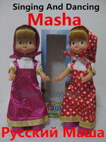 Wholesale Russian Language Masha And Bear Singing Dancing Masha Musical Doll Toys Best Christmas Gift For Children Kids girls