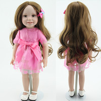 Wholesale full vinyl body sweet smile American girl doll