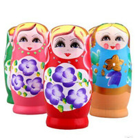 baby nest - Russian Nesting Dolls Toy Wood Wooden Nest Toys Doll For Xmas Gift sets
