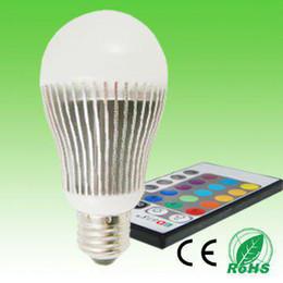 DHL free shipping 5W E27 E14 RGB led globe light led globe lamp LED Bulb led light