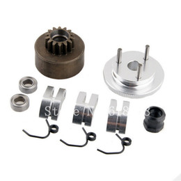 Wholesale Bell Gear Flywheel T Clutch Shoe Spring Bearing Assembly Sets Alloy For HSP Nitro Engine Parts RC Model Accessories