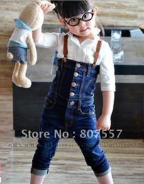 Wholesale El envío libre embroma cm los niños llevan ropa niños de los pantalones vaqueros girlsboys hermosas monos populares