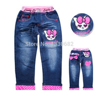 baby girl cowboy boots - New Girls Cartoon jeans Hot Sale breeches Kids Casual denim pants Child trousers Girl cowboy pants baby clothing