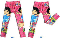 al leg - Free shipment Children kids girls cartoons printing Jeans legging made of marcerized cotton sizes mixed AL JK