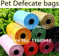 dog toilet - rolls Candy colored pet trash bag pet Stool bag Can be used with the dog toilets Pet cleaning supplies