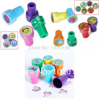 animal ink stamps - Dinosaur Sea Animals Smiley Face Pre Self Ink Stamper Cartoon Stamps Drawing Toy Art Paiting CraftKids party gift toys