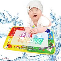 aqua play mat - High Quality x29cm Aqua Doodle Water Drawing Toys Mat With Magic Pen Draw Board Blackboard Baby Play Educational Toy