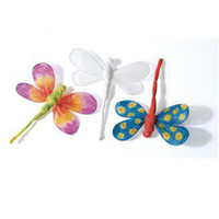 art paper products - Paint unfinished silk dragonfly hanger Spring products Spring crafts Art fun Home ornament x13cm Freeshipping