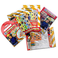 best painting books - Children sticker color in painting graffiti this Fireman Sam COLOURING BOOK for kids best gift