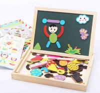 art easel set - Wooden MyChildhood Kids Jungle Art Fantastic Easel Puzzle Magnetic Painting Drawing Board Blackboard Learning amp Education Toys