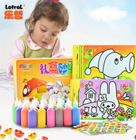 airs education - kid brinquedos Learning amp education color sand painting set drawing toys for child bottles colored sand air for