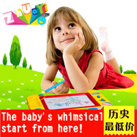 baby sketch - Hot Sale Children Baby Education Tool Magnetic Drawing Board Sketch Pad Doodle Writing Craft Art Toys for Children Yellow Color