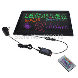 Wholesale Hardened digital remote Flashing Illuminated Erasable Neon led Message writing board Menu Sign for advertising