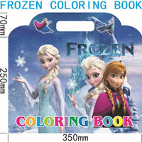 Wholesale x35cm Frozen Coloring Books frozen princess child education painting amp Frozen Cartoon Coloring Book with Stickers Drawing