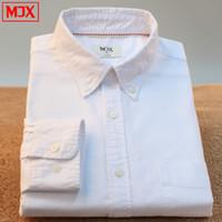 oxford shirts - New Spring mens brand dress shirts camisa social masculina men blusas casual shirt Oxford long sleeve shirt plus size S XL