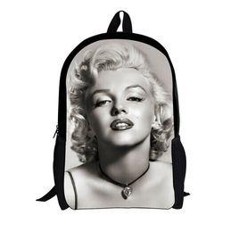 Wholesale New Marilyn Monroe Backpack D Character Unique Backpacks Girls Cute Girls Backpack High College Student Bagpack Women Rucksack