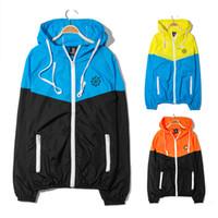 Wholesale New Fingercroxx Thin Splice Hoodies Hooded Zipper Full Hoodies Windproof Sunscreen Outdoor Sports Street Wear Casual Hoodies
