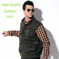 Cheap Wholesale-Quality Band Vest Men Outdoor Multi Pocket Vest For Men Fishing Sport Casual Travel Photography Waistcoat Colete Masculino,XXXXL