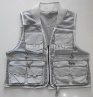 Wholesale pc Fishing Vest Outdoor Vest Fly Fishing Vest Outdoor Cloth Good quality