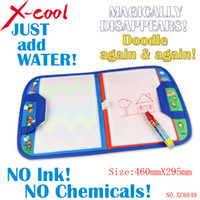 Wholesale xc8849nc X29 cm Magic Water Doodle Mat with1 Magic Pen water doodle bag drawing board drawing rug