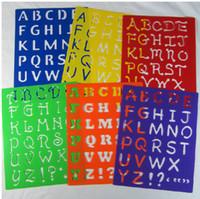 alphabet stencil template - 6 designs set cm Kids Capital Alphabet Letter Plastic Template Stencil Board Children s drawing template Set